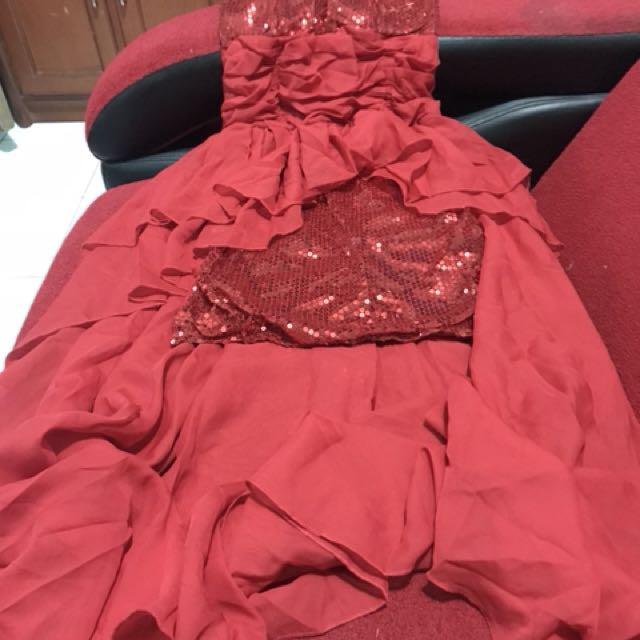 Dress buntut sequin