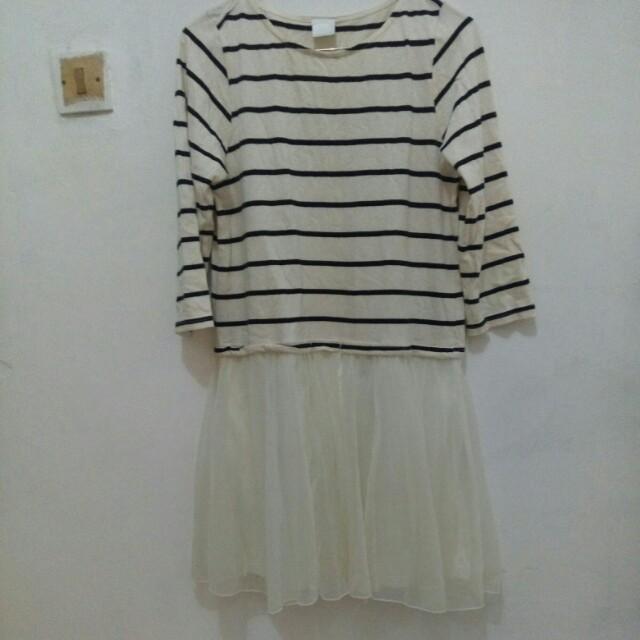 Dress korea merk Retro girl