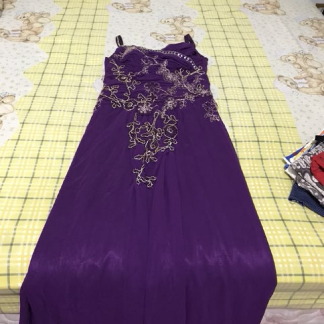 dress pesta purple