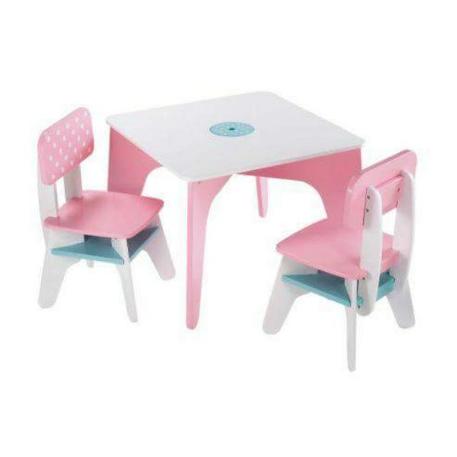 Elc Wooden Table And Chairs Pink Leapfrog Little Tikes Playskool