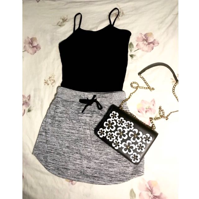 F21 top & made in vietnam skirt (SET)