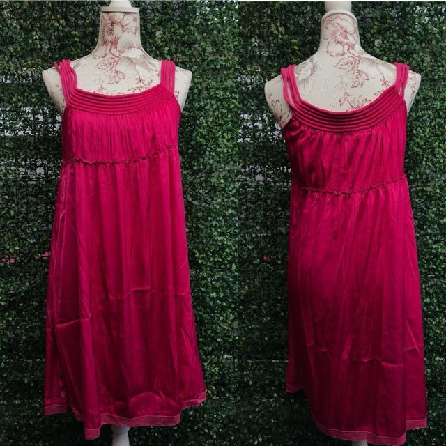 Forever 21 Fuschia Silk Dress