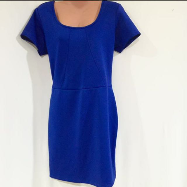 Forever 21 Royal Blue Neoprene Dress