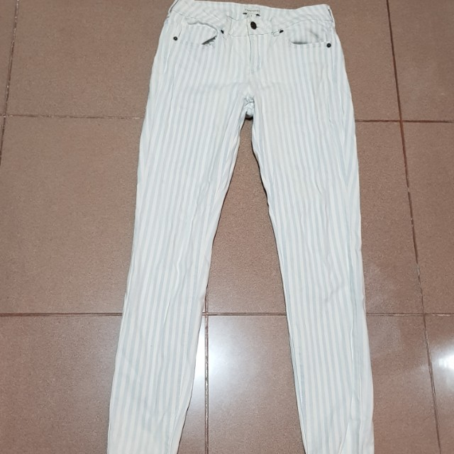 Forever 21 Skiny Blue Stripped Jeans