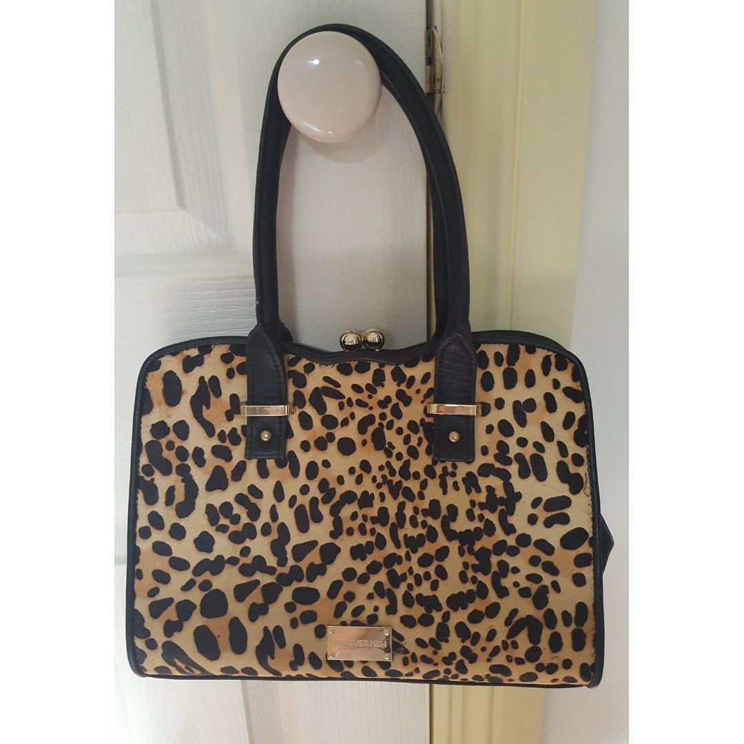 Forever New Leopard Bag Handbag Hand Bag Small Mini Tote - similar to Showpo used once