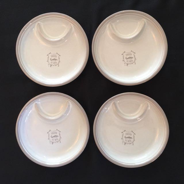 Four Appetizer Plates