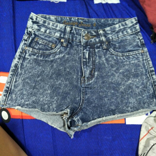 Garage Jeans acid wash high waist shorts