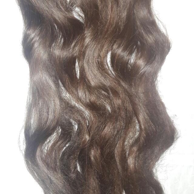 Hair clip, 50 cm, brown colour