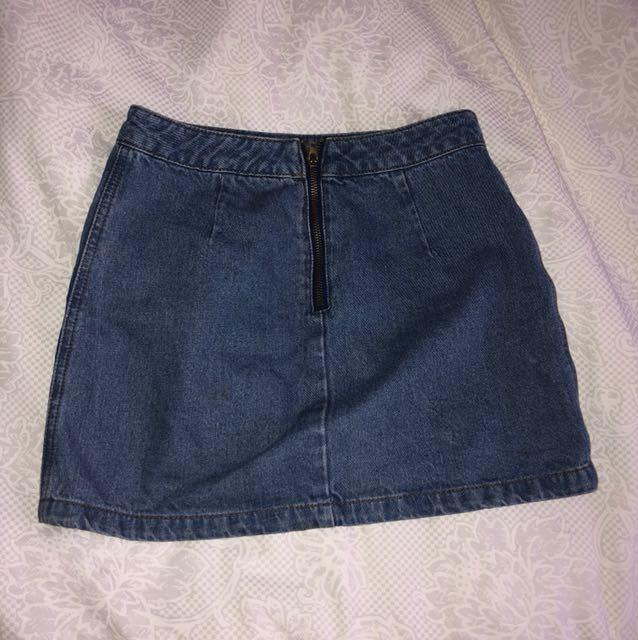 high quality denim skirt