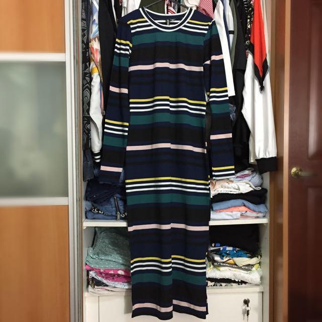 H&M Stripes Long Dress