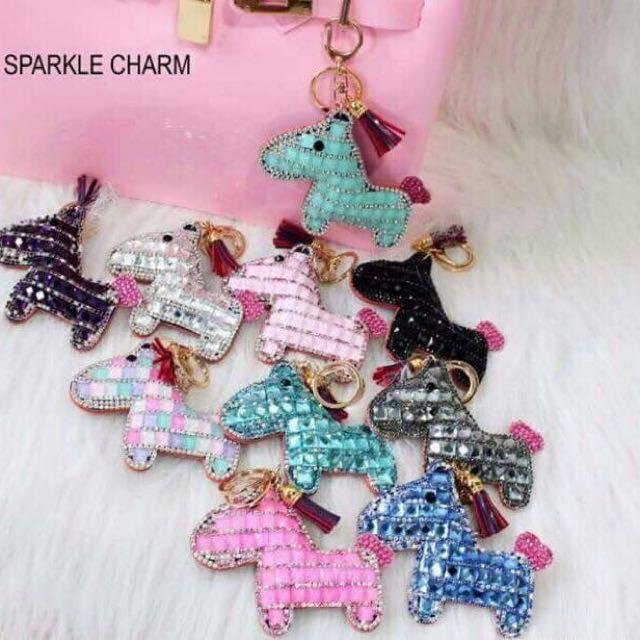 Horse sparkle bag charm