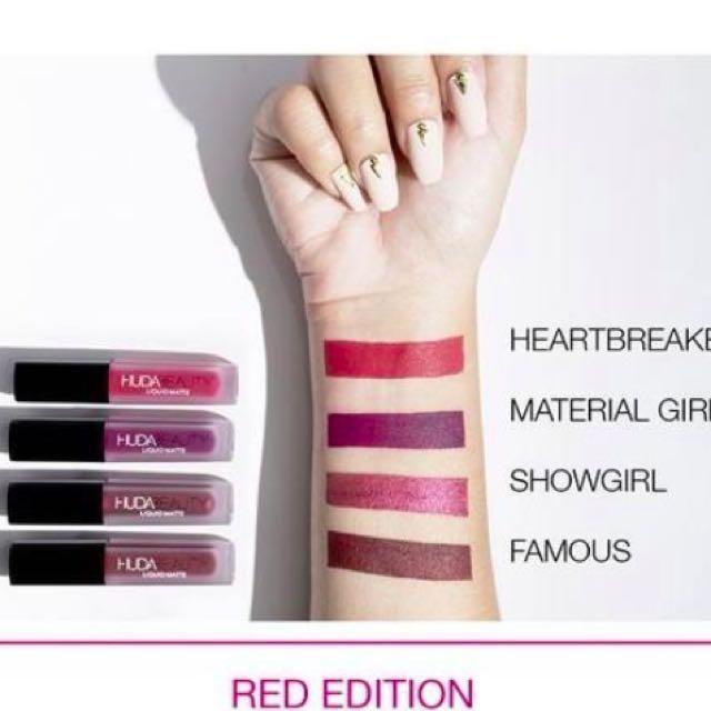 Huda beauty mini lip kit liquid lipstick