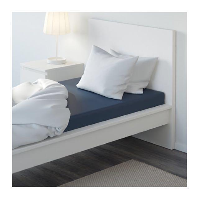 IKEA ULLVIDE單人床包-深藍色