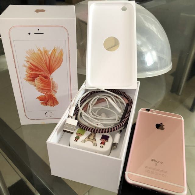 Iphone 6s second 64 GB rosegold HK