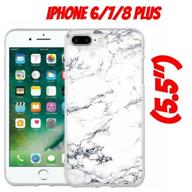 "iPhone 7 Plus (5.5"") White Marble Case"
