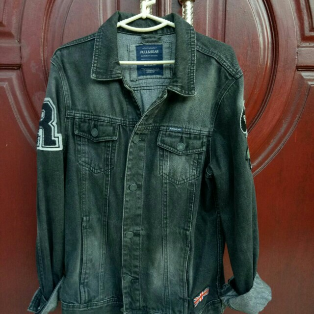 Jacket Denim Pull&Bear With Patch
