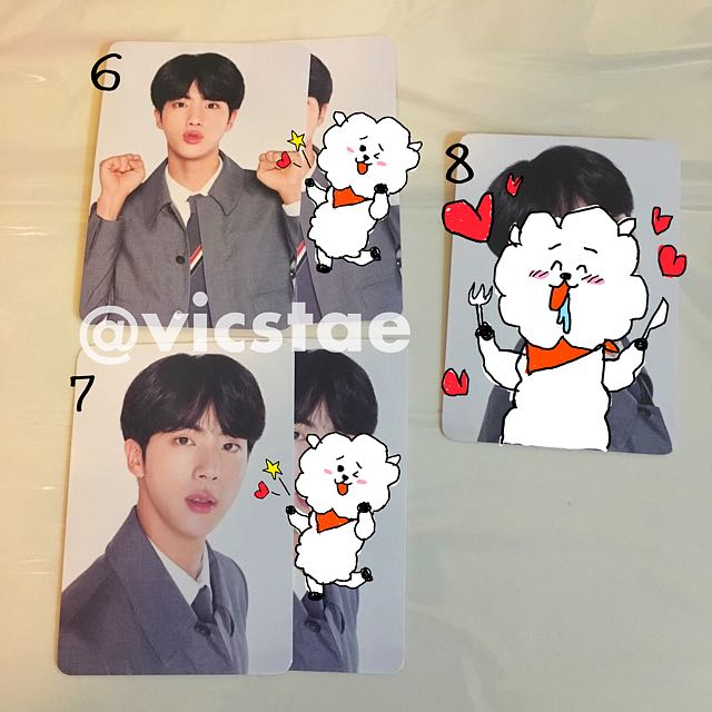 JIN / MINI PHOTOCARDS / BTS 4TH MUSTER HAPPY EVER AFTER