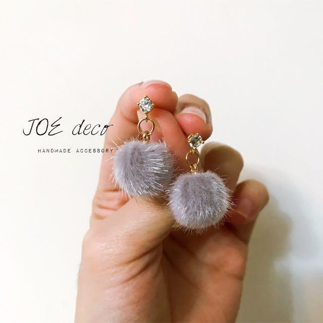 JOE deco💐手作毛毛耳環
