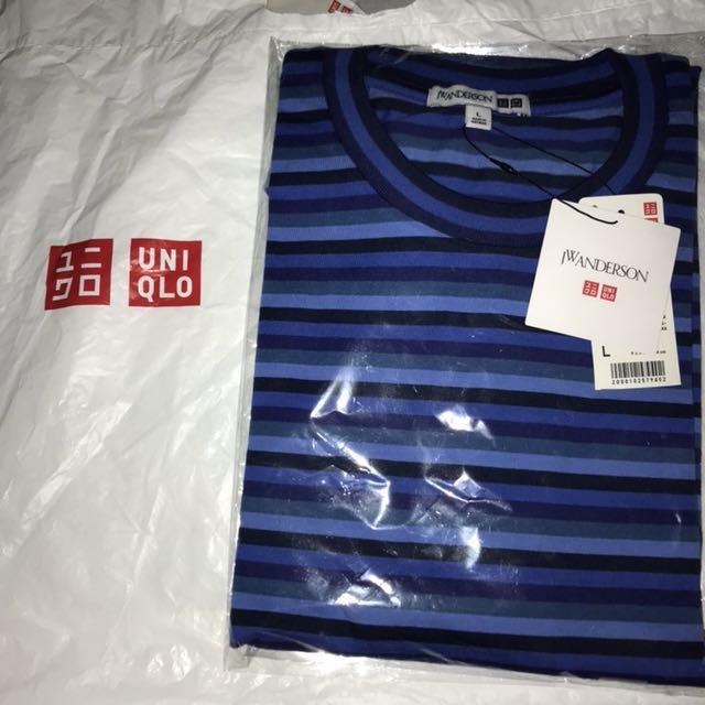 JW Anderson x Uniqlo Blue Striped Tee