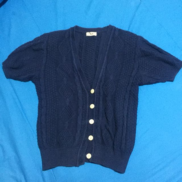 Knit navy outer cardigan