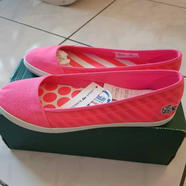 LACOSTE休閒鞋(粉色)