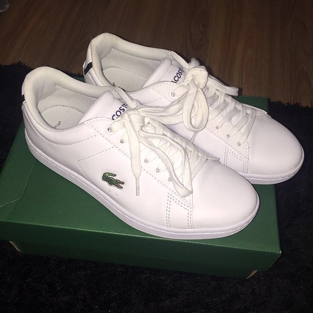 LACOSTE WHITE LEATHER Authentic Sneaker