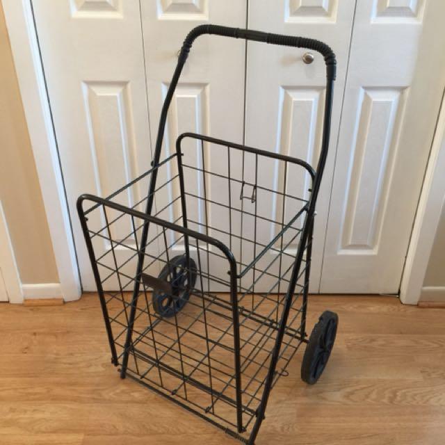 Large Metal Folding Cart with Wheels