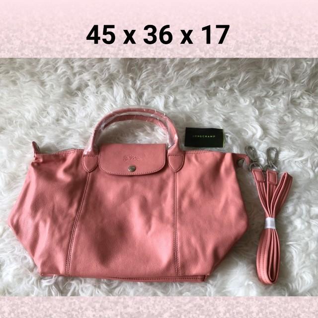 Longchamp Cuir Peach bag
