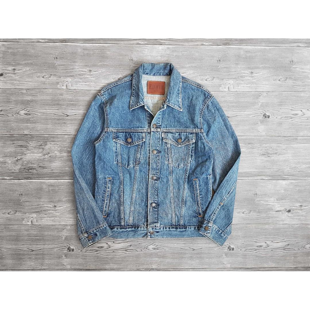 M號 Edwin 愛德恩 日版 白標 水洗刷色 經典版型 牛仔外套 牛仔夾克 二手 丹寧外套