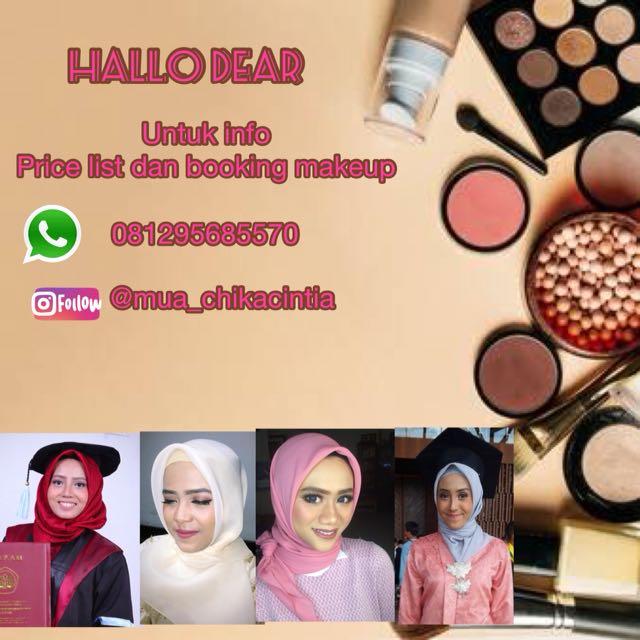 Makeup wisuda,  engagement dll