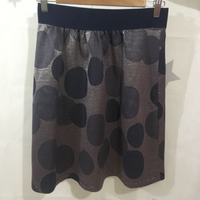 Max & Co Blue Spotty Middy Skirt