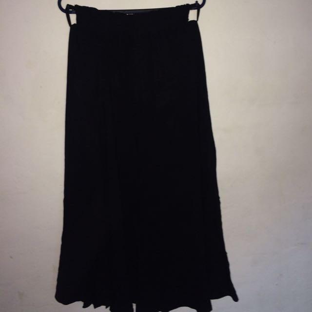 Maxi Long Black Skirt