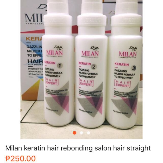 Milan Keratin Rebonding Salon Hair Straight