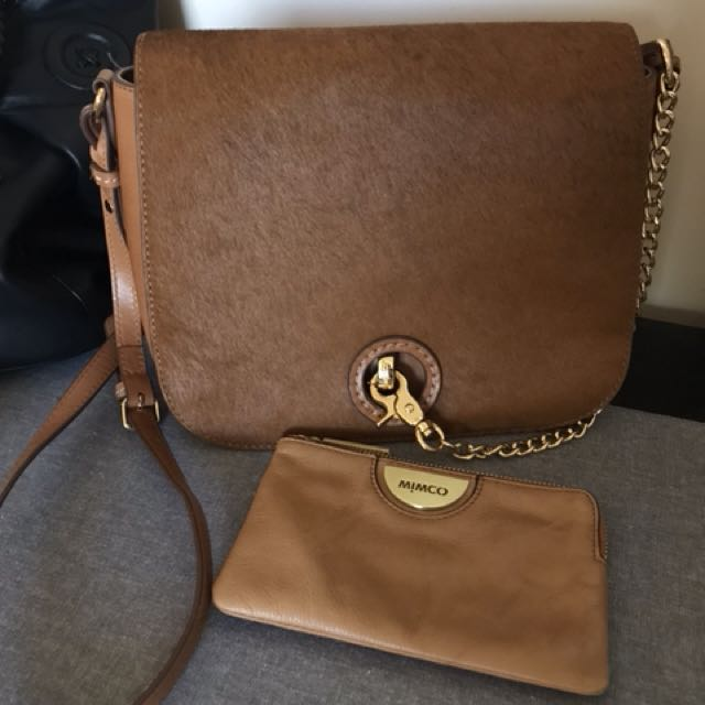 Mimco Exploricious saddle bag and echo pouch