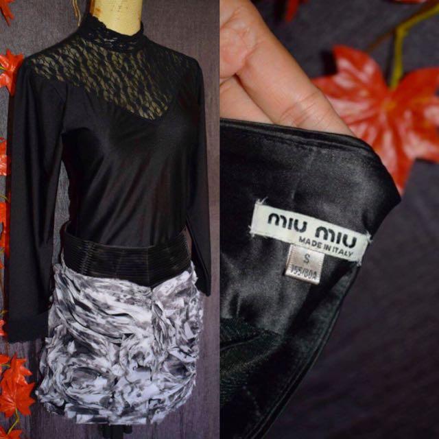 Miumiu skirt/top set size s-med