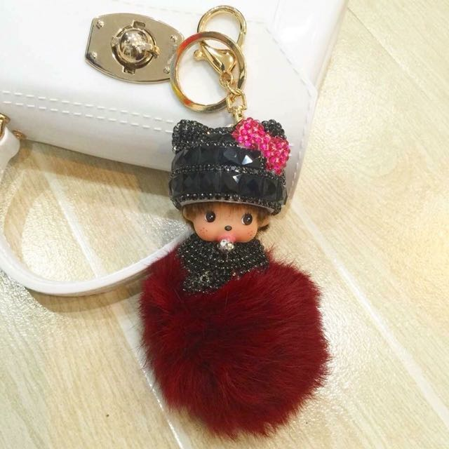 Monchichi doll bag charm