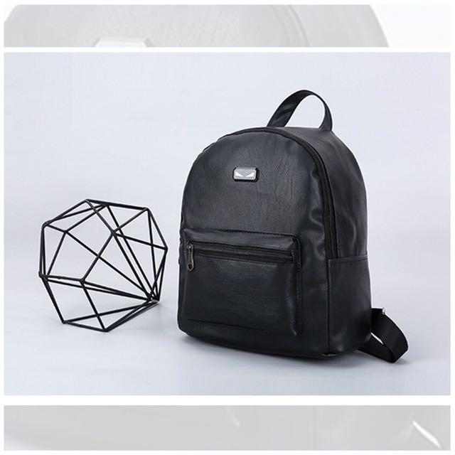 Monster eye PU leather Backpack