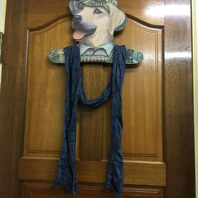 全新MUJI無印良品深藍色真空包裝圍巾