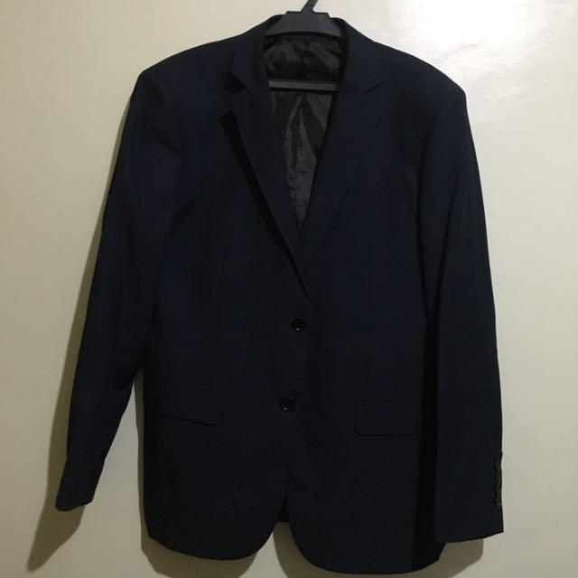 Navy Blue Coat & Slacks
