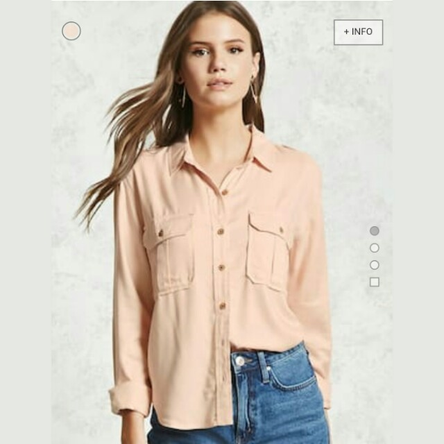 NEW Forever 21 Dusty Pink button down Shirt