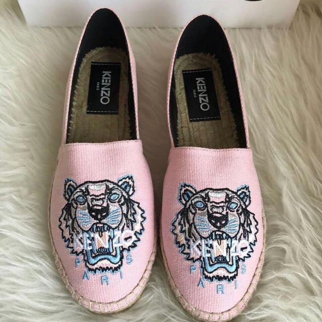 NEW KENZO espadrilles pink fadded size 37