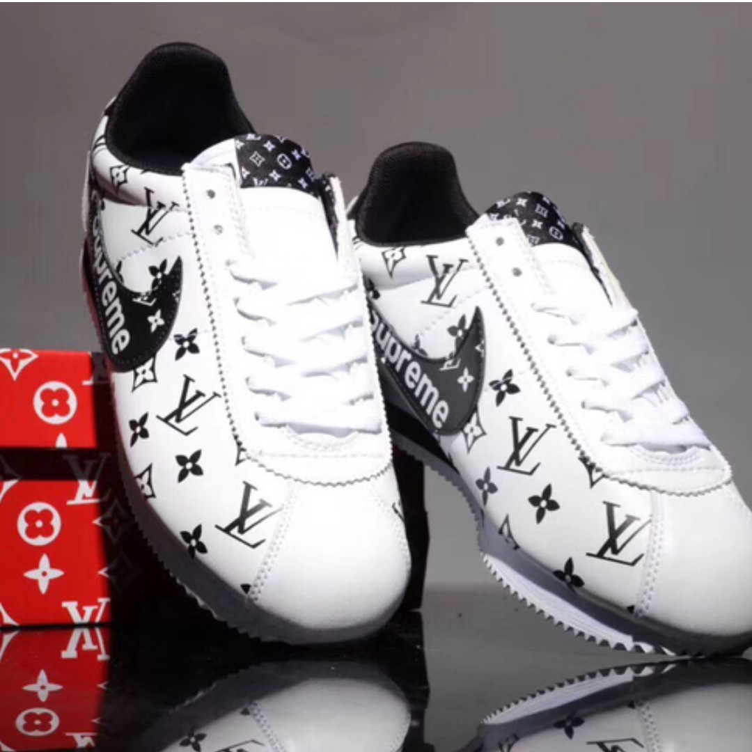 separation shoes 63470 77106 Nike Cortez x LV x Supreme Sneakers Shoes sneaker shoes Low-top