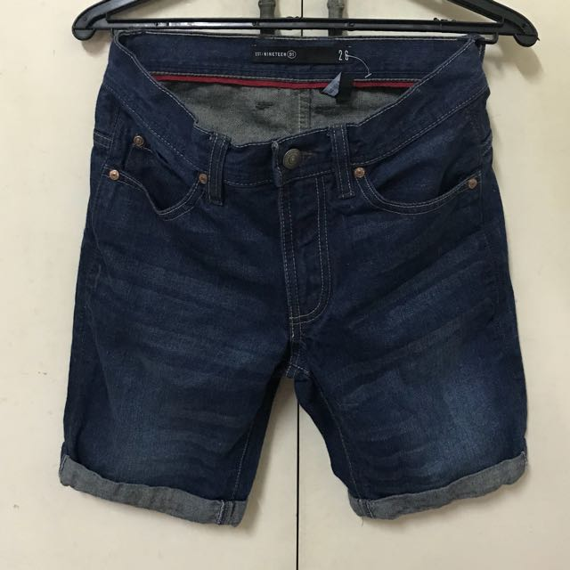 "NINETEEN 91 by Cotton on denim slim shorts 26-29"""