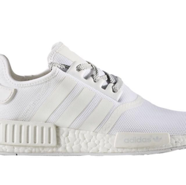 cdc71cff9a25 Nmd R1 all white UK11 US 11.5