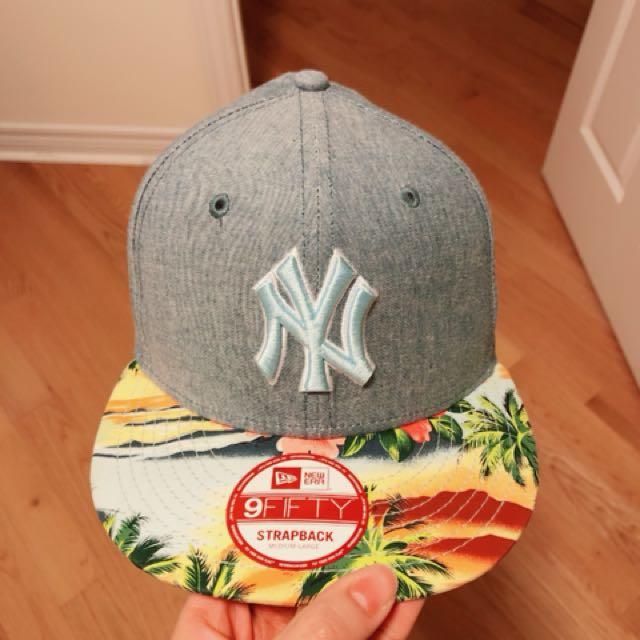 NY strapback hat