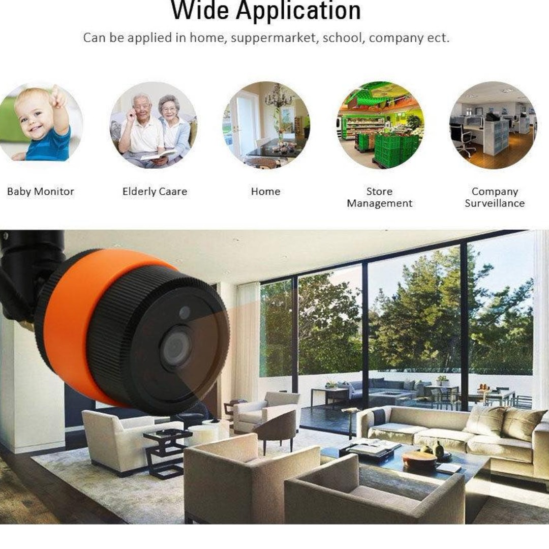 Outdoor (IP65) Wireless IP camera with Night Vision, Motion detection,