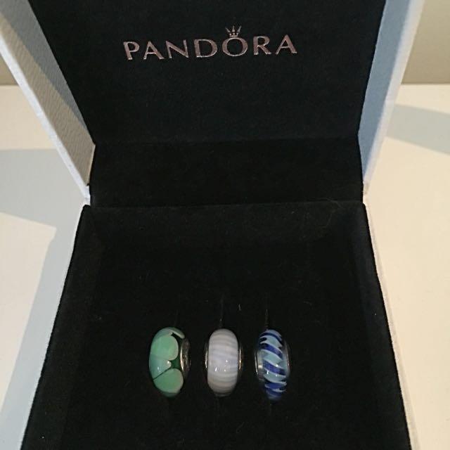 Pandora glass charms