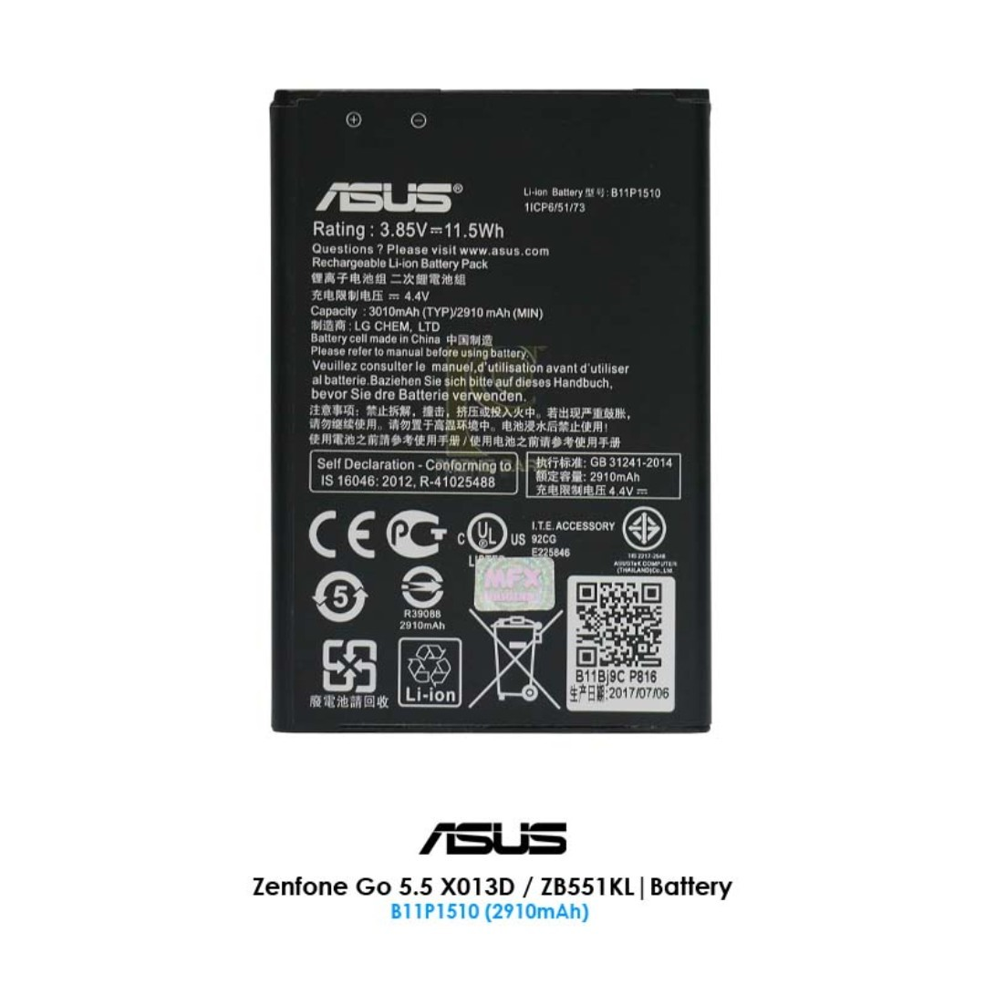 Pc Asus Zenfone Go 55 Zb551kl X013d Battery B11p1510 2910mah Nokia 1681c Mobile Phones Tablets Others On Carousell