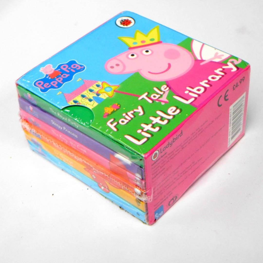 Peppa Pig Fairy Tale Little Library Box Set 6 Board Books On