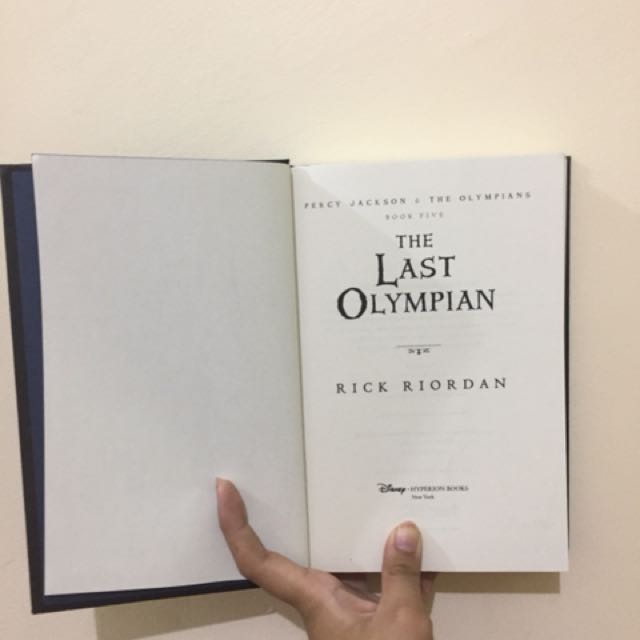 PERCY JACKSON THE LAST OLYMPIAN (HARDBOUND FIRST EDITION)